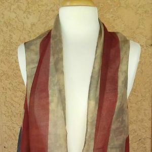 American Flag Vest Sleeveles Kimono Patriotic